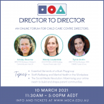 Director's Forum – This Wednesday!