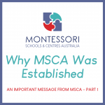 An Important Message from MSCA – Part 1